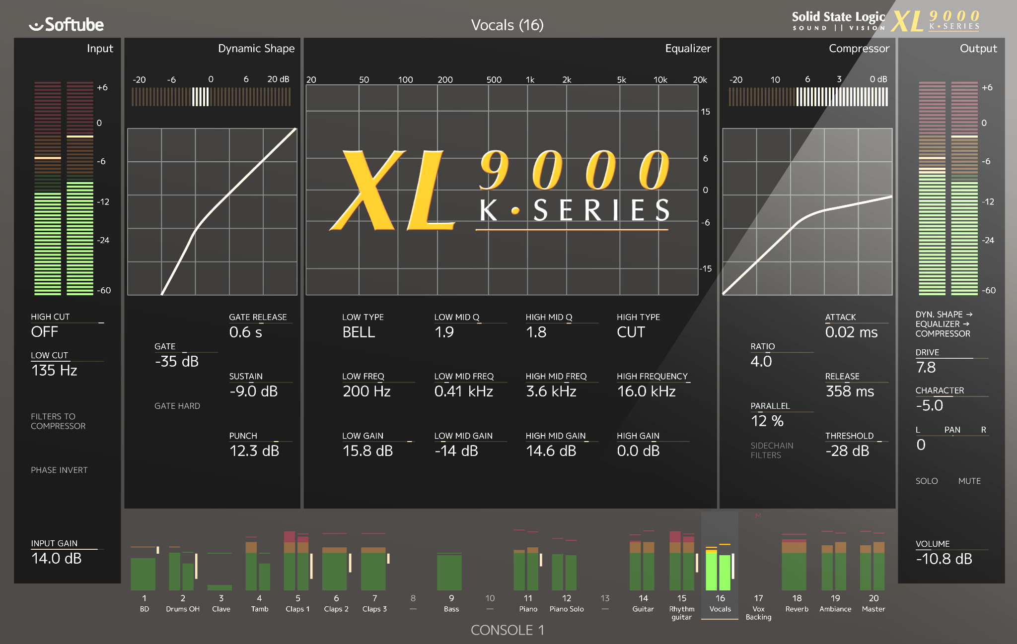 Test: Softube SSL XL 9000 K-Series for Console 1
