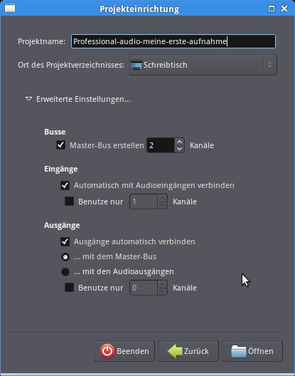 Ardour-Setup-menu