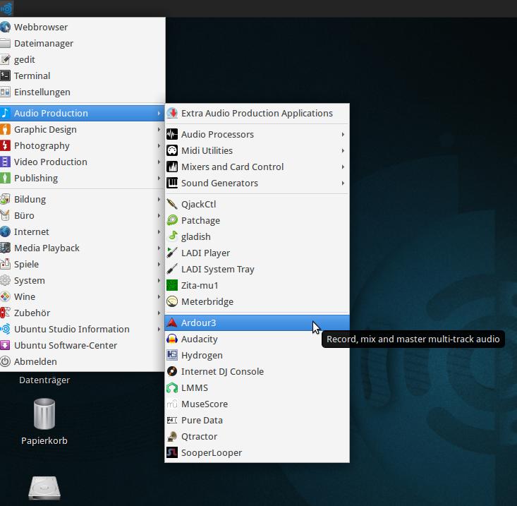 Ubuntu-Programm-Menu