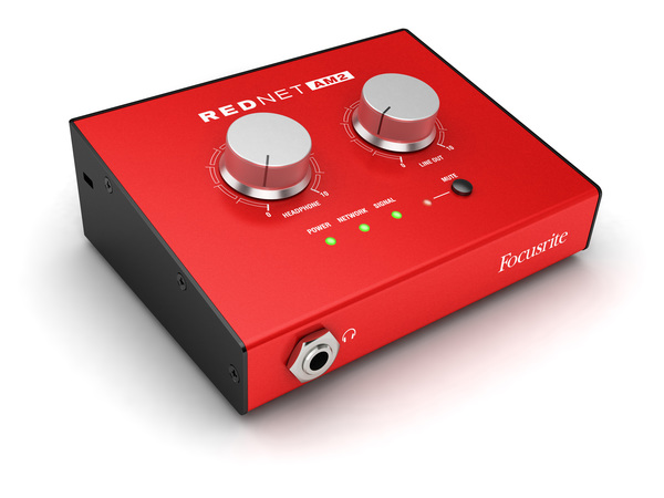News: Dante-Kopfhörerverstärker und Line-Ausgangs-Interface Focusrite Rednet AM2