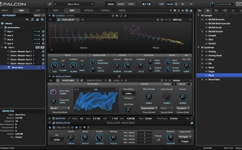 News: Neuer virtueller Synthesizer UVI Falcon mit riesigem Funktionsumfang