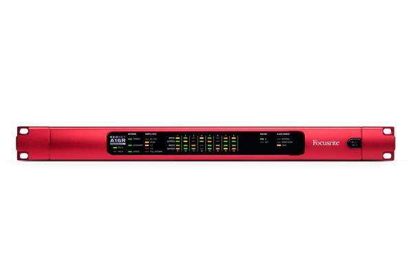 News: Focusrite präsentiert 16-Kanal-Dante-Interface Rednet A16R