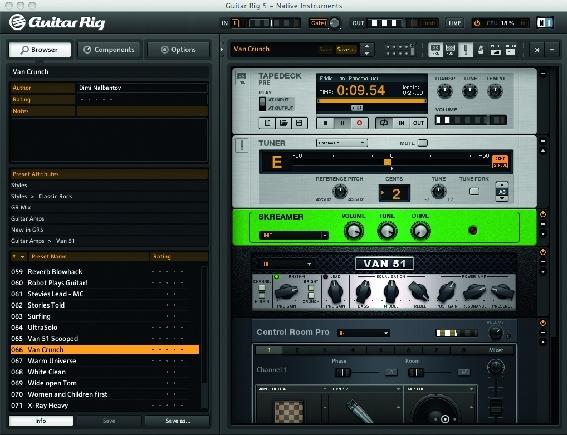 Test: Gitarren-Amp-Emulation Native Instruments Guitar Rig 5 Pro