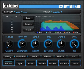 Test: Hall Plug-In  Lexicon LXP Native Reverb Bundle