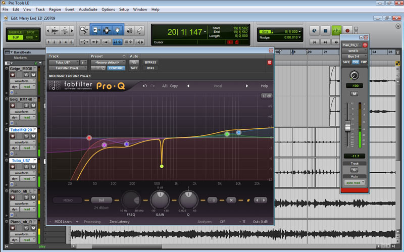 Test: Equalizer-Plug-In Farbfilter Software Instruments Pro-Q