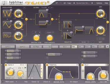 Test: Virtuelles Instrument Fabfilter Twin 2