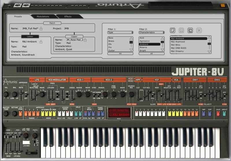 Test: Virtuelles Instrument Arturia Jupiter-8V