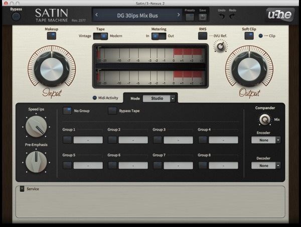 Test: Bandmaschinen-Emulation U-He Satin Tape Machine