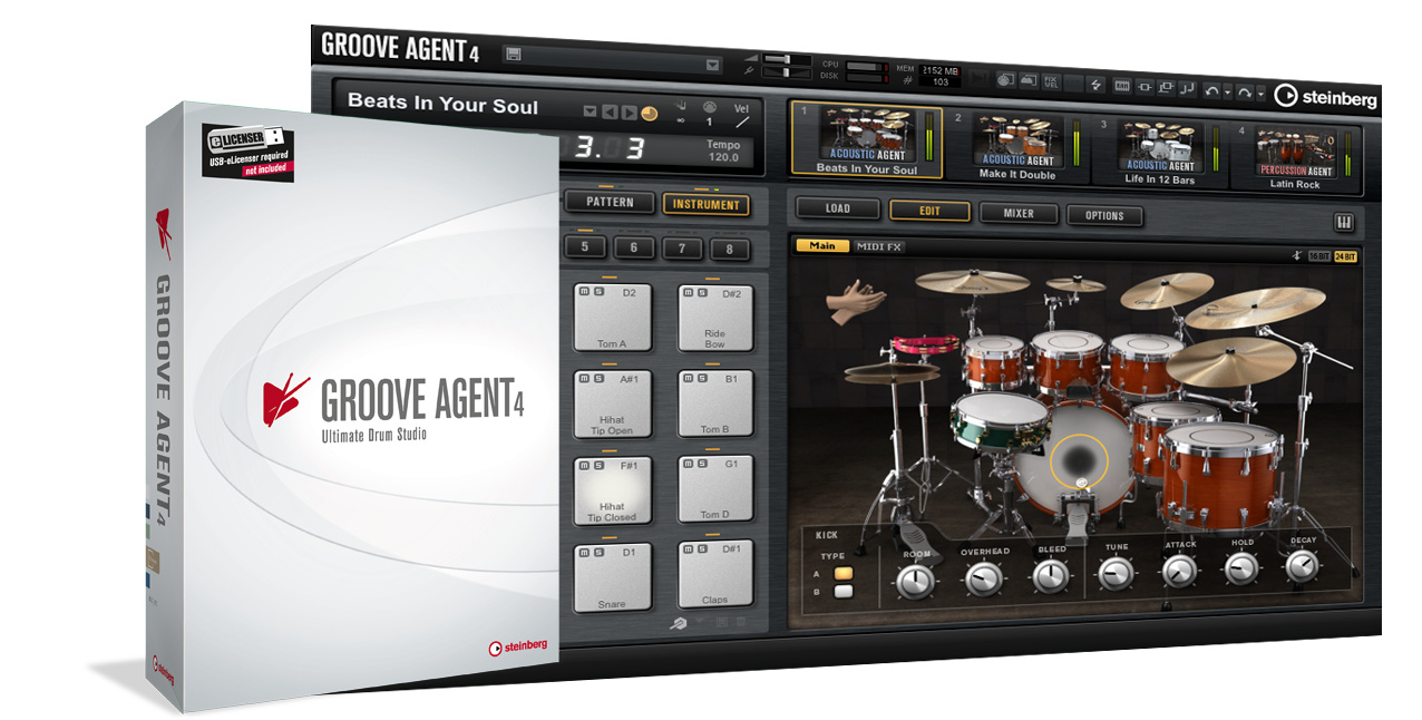 Test Drumsampler Steinberg Groove Agent 4