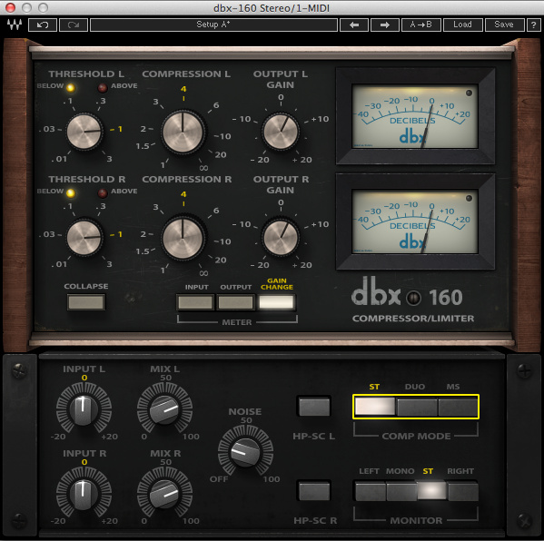 Test: Kompressor Plug-in Waves dbx160 Compressor/Limiter