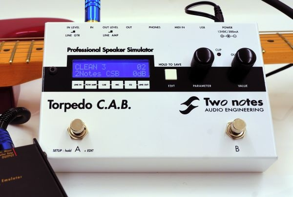 Dig. Cabinet- und Mikrofonierungs-Simulator Two Notes Audio Engineering Torpedo C.A.B