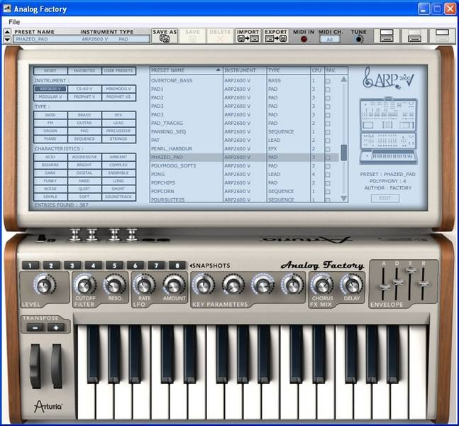 Test: Virtuelles Instrument Arturia Analog Factory