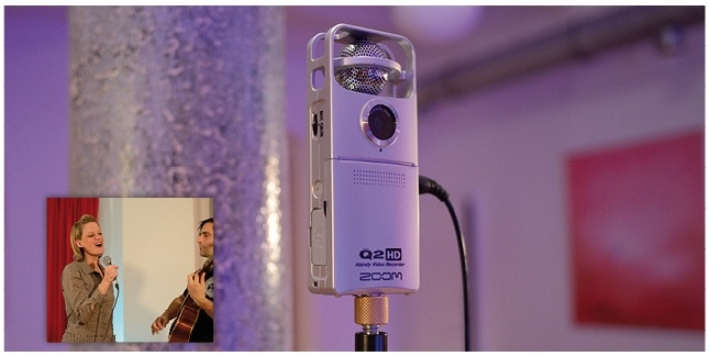 Test Stand-alone-Recorder Zoom Q2 HD