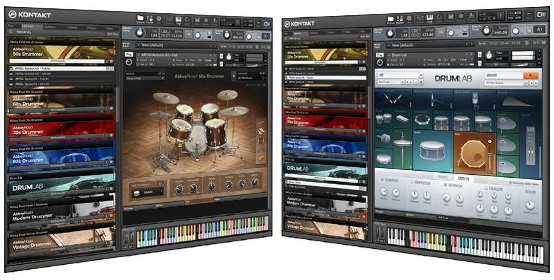 Test Sample Library Native Instruments Abbey Road 50s Drummer und Drumlab