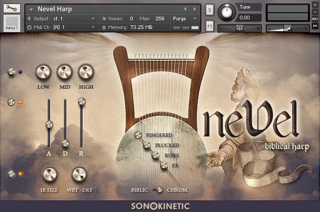 Test: Sample Library Sonokinetic Nevel biblical Harp