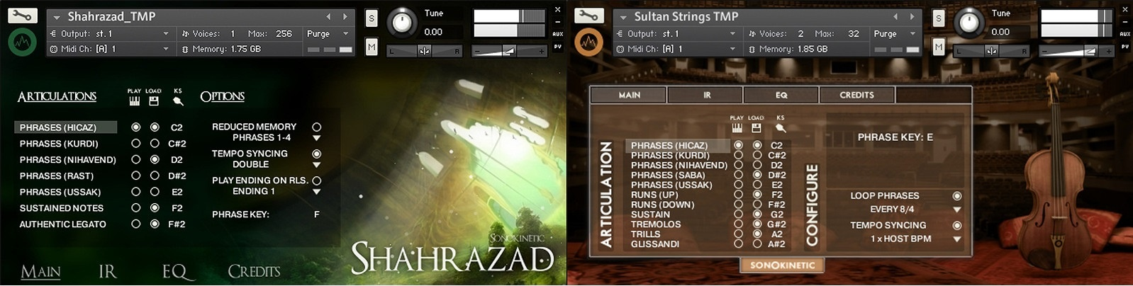 Test: Sample Librarys Sonokinetic Shahrazad und Sultan Strings