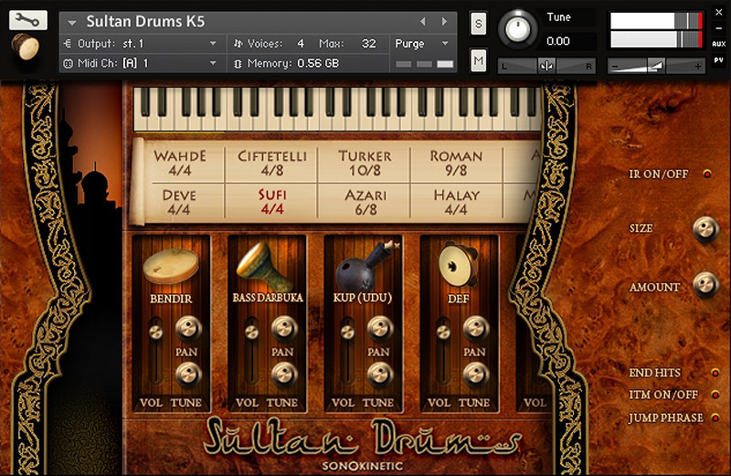Test: Sample Library Sonokinetic Sultan Drums