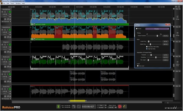 Test Software-Tool Synchro Arts Revoice Pro 3