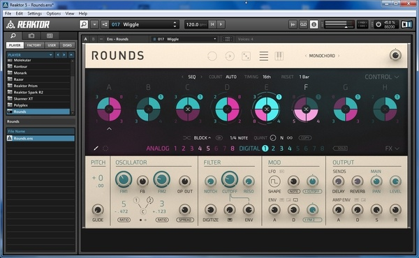 Test Virtuelles Instrument Native Instruments Rounds