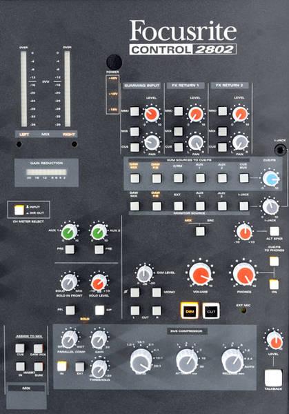 Test: Focusrite Control 2802 › Professional audio › Aufnehmen ...