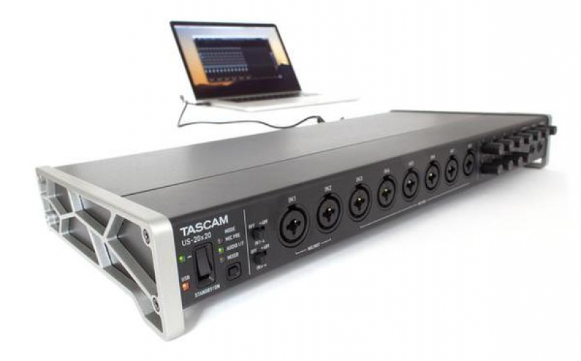 Test: USB-Audio-Interface Tascam US-20×20
