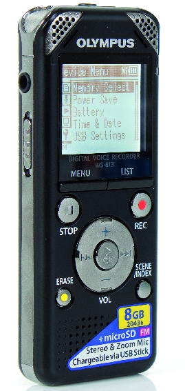 Test: Stand-Alone-Recorder Olympus WS-813 Recorder