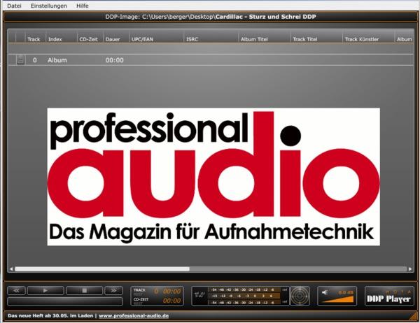 Format-Vermittler › Professional audio › Aufnehmen