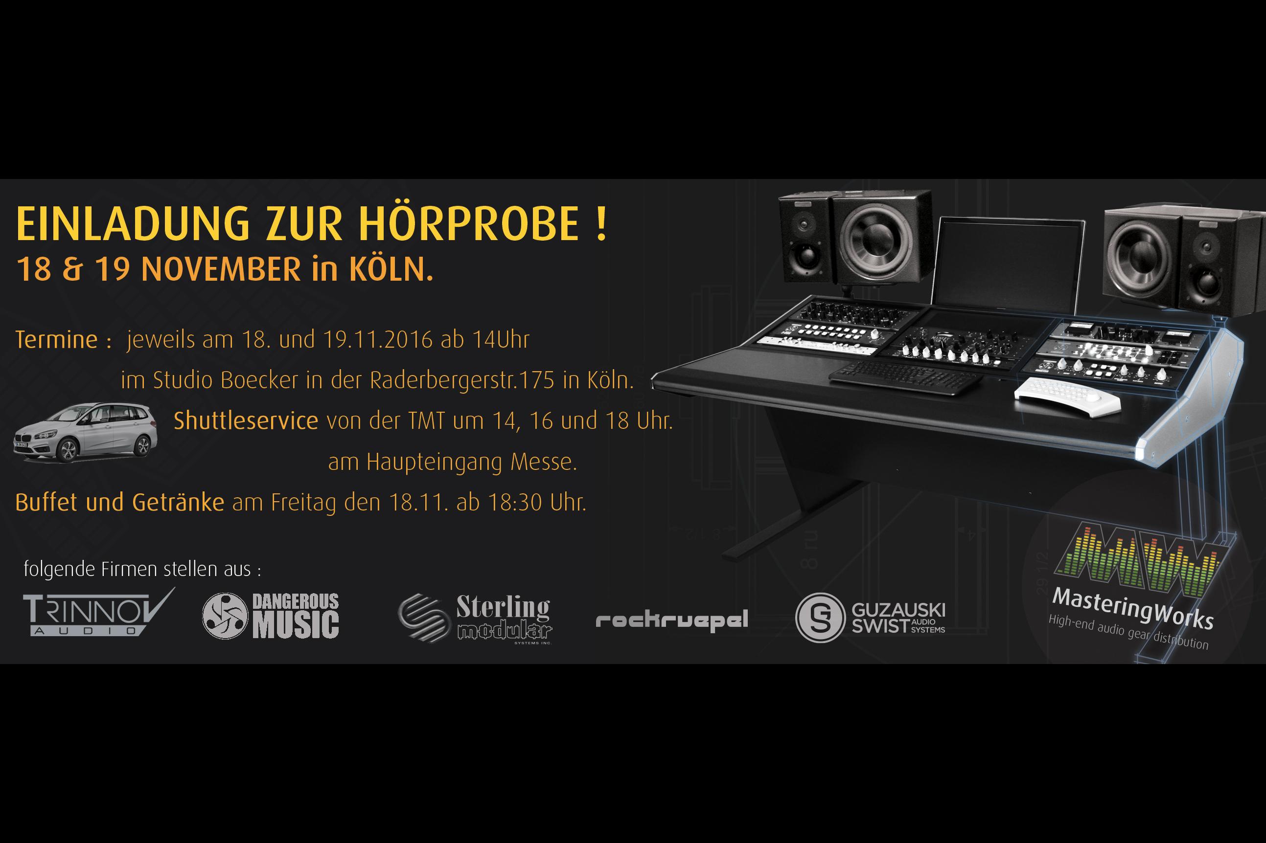 News: Hör-Event im Rahmen der TMT