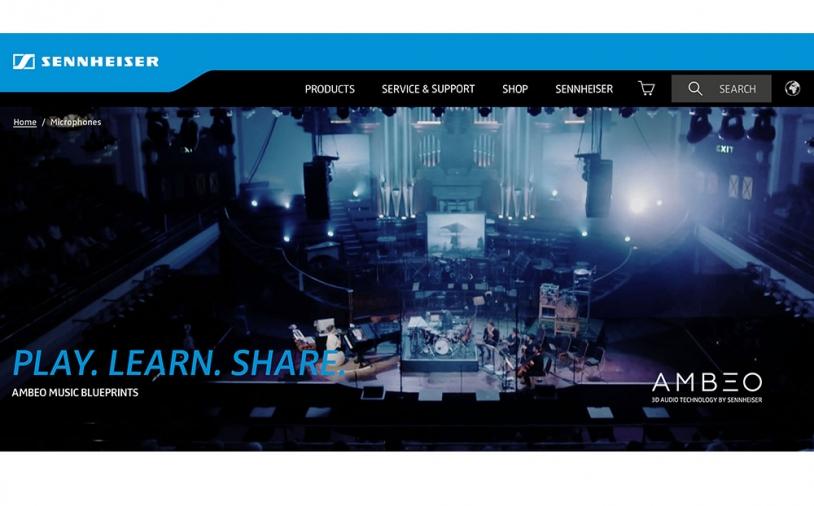 News: Sennheiser stellt Tutorial-Webseite AMBEO Music Blueprints vor