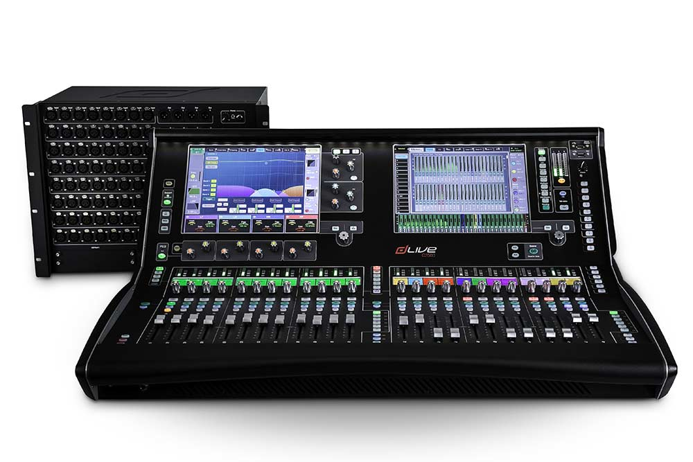 News: Die obere Messlatte der C Class: Eine dLive C3500 Bedienoberfläche und ein CDM64 MixRack.