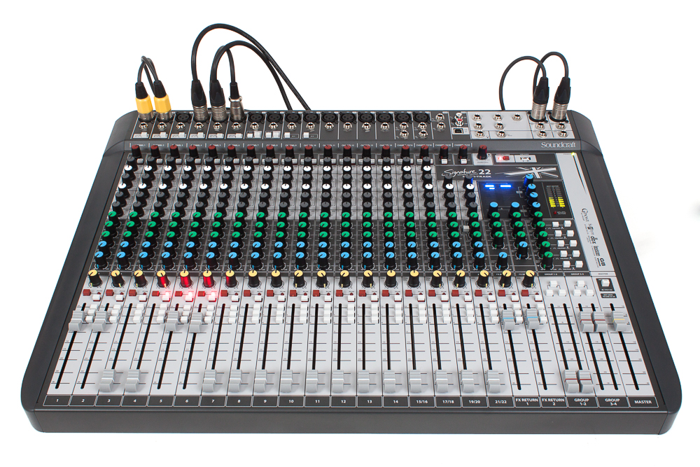 Test: Analog-Mischpult/USB-Audio-Interface Soundcraft Signature 22MTK