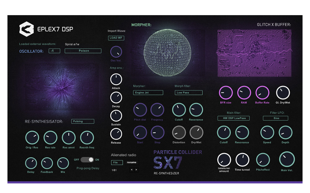 News: Eplex7 DSP: Particle Collider SX7