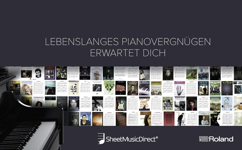 News: Roland-Kampagne in Kooperation mit Sheet Music Direct