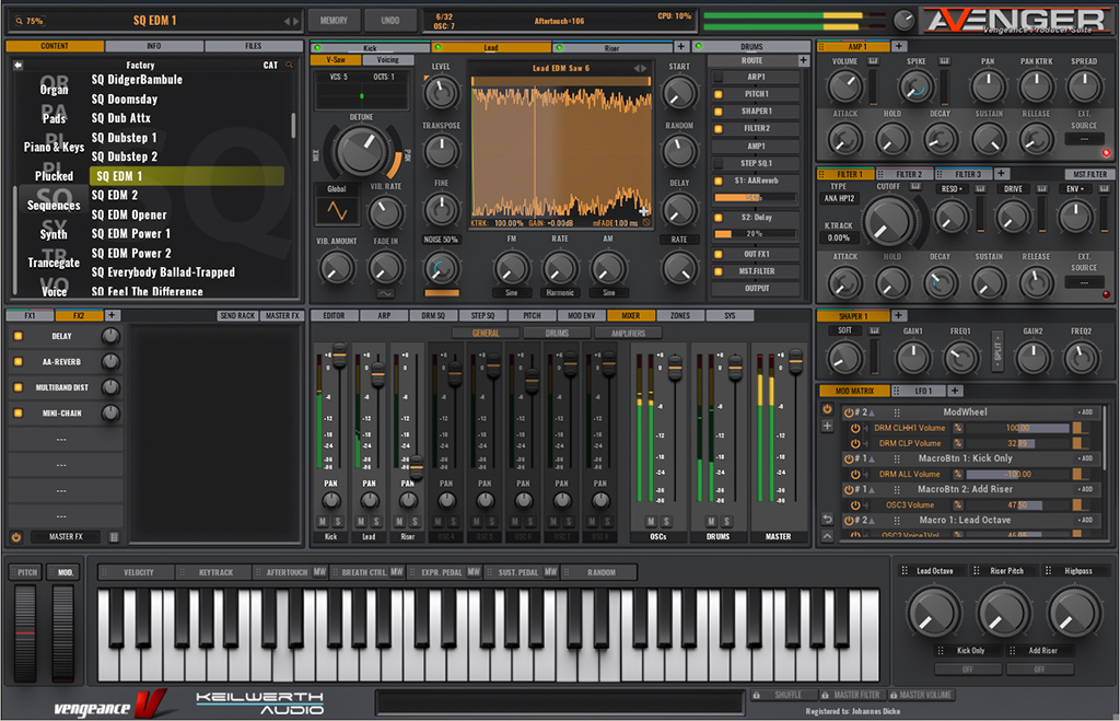 Test-Workshop: Software-Synthesizer Vengeance Sound VPS Avenger