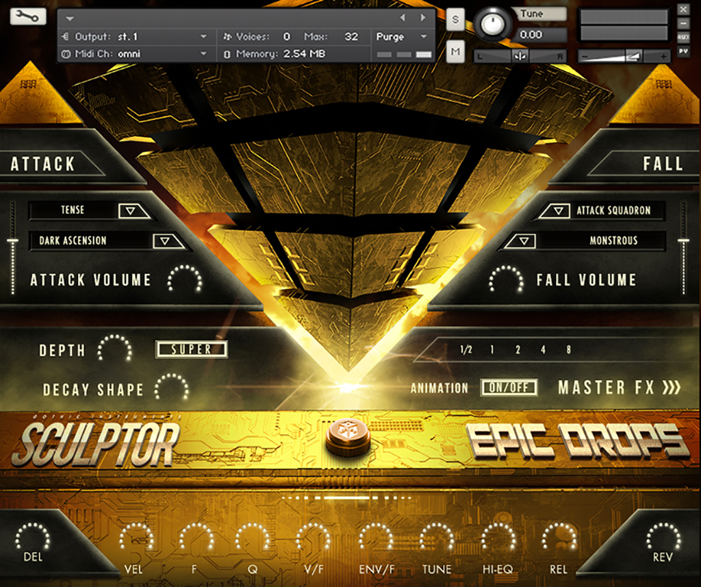News: Gothic Instruments mit FX-Tool SCULPTOR Epic Drops