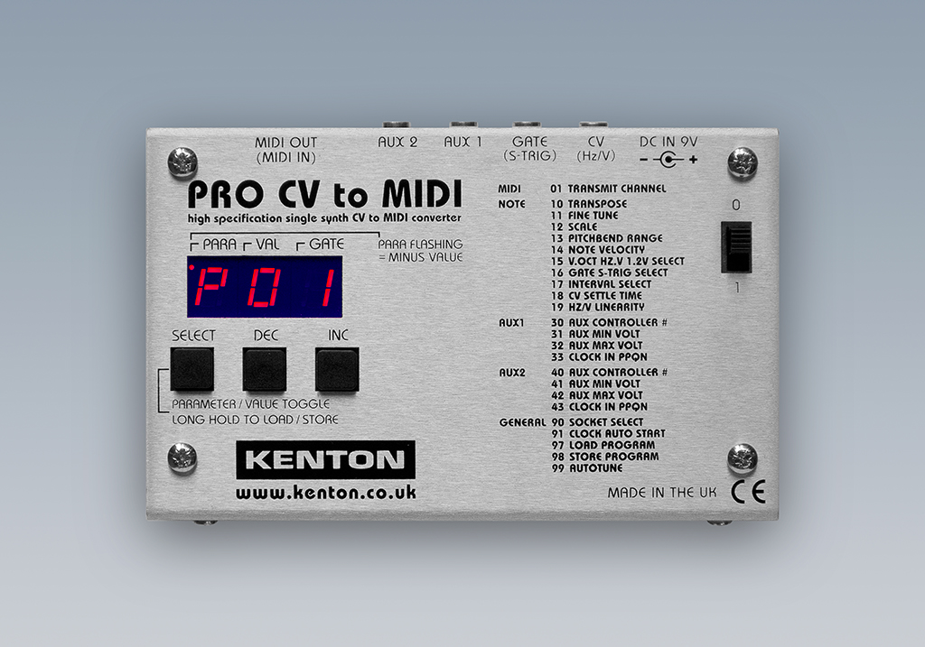 News: Kenton Pro CV to MIDI