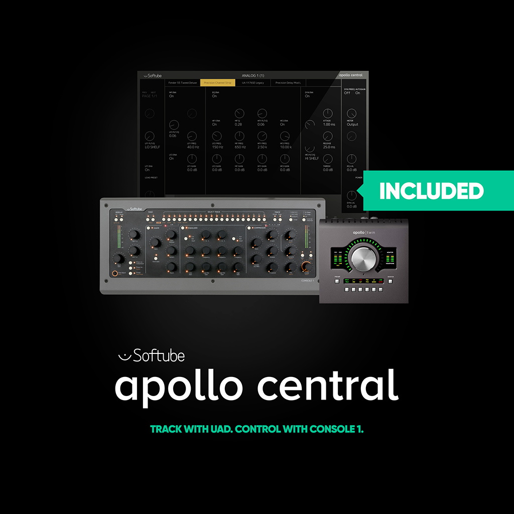 News: Universal Audio Apollo Console nun mit Softubes Console 1 steuerbar
