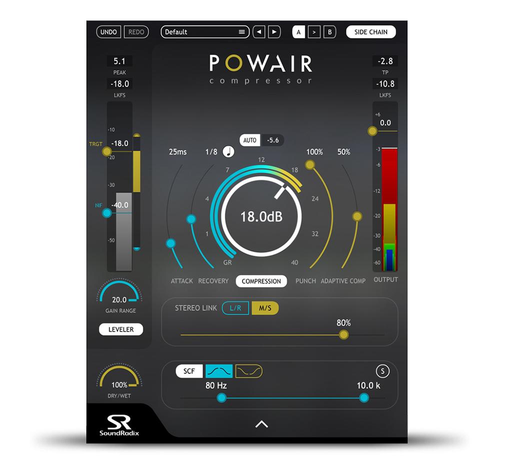 News: Soundradix mit Leveler und Kompressor/Limiter Plug-in POWAIR