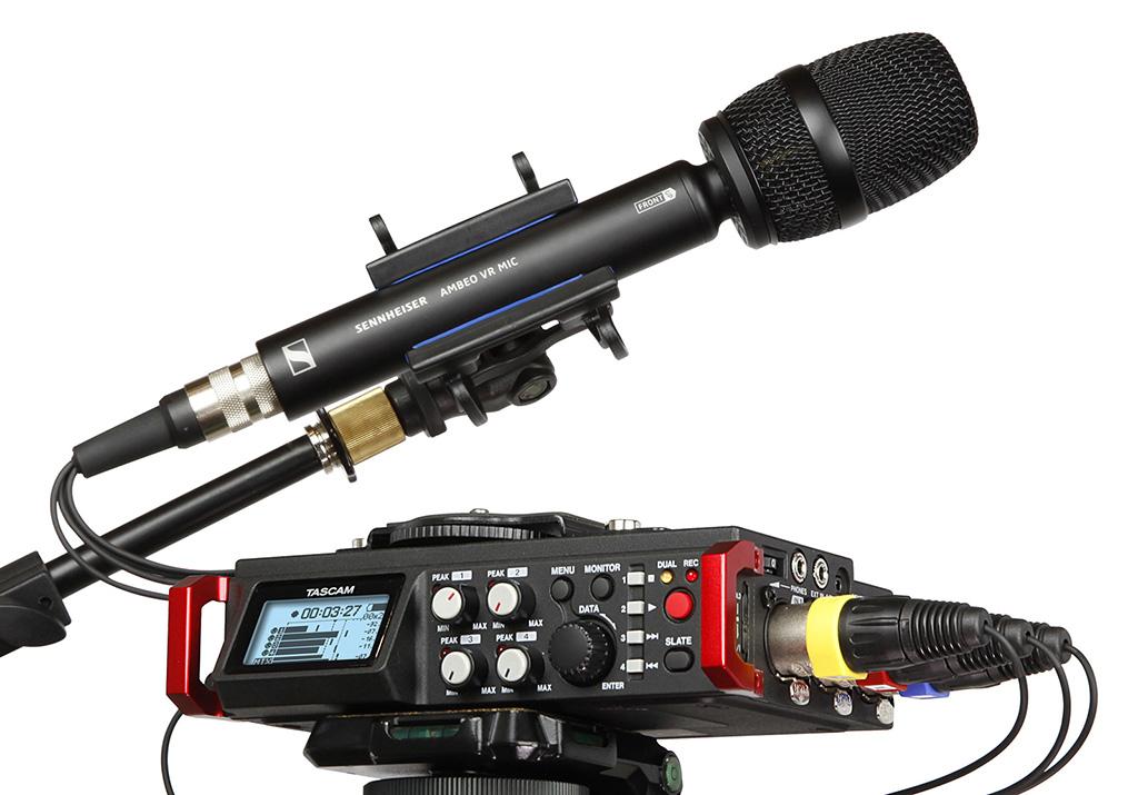 News: Tascam DR-701D nun mit Sennheiser AMBEO VR-Unterstützung für dreidimensionale Audioaufnahmen