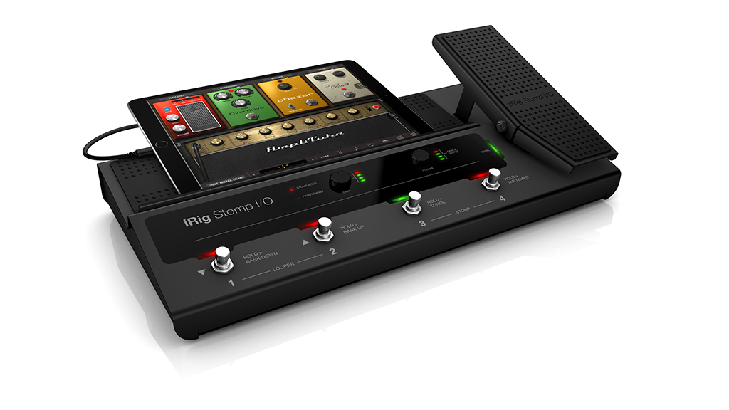 News: IK Multimedia mit Pedalboard-Interface iRig Stomp I/O