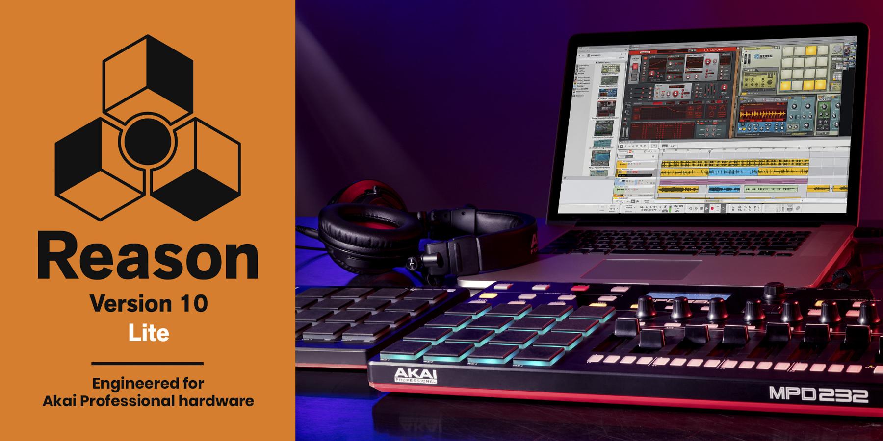 News: Reason Lite-Version für Hardware Controller von Akai Professional verfügbar