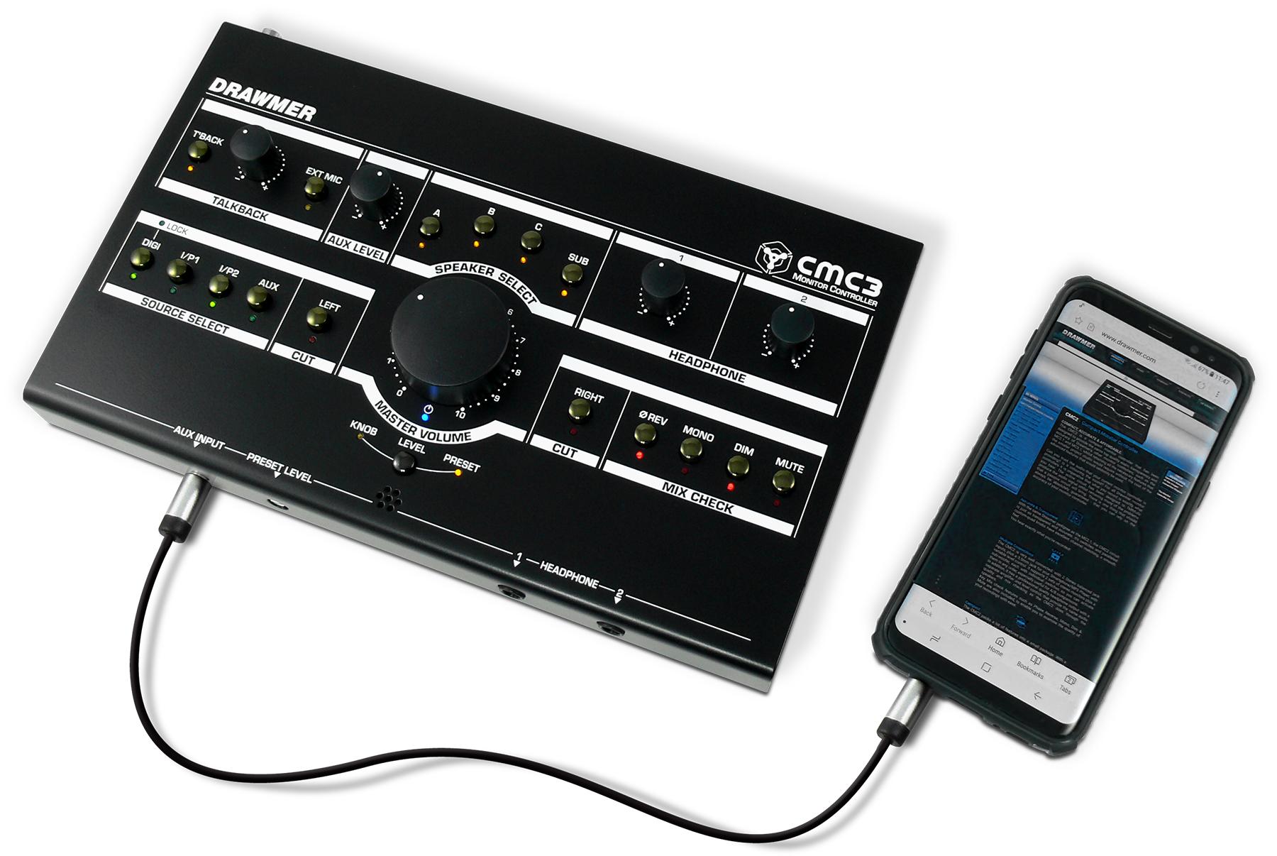 News: Monitor-Controller CMC3 und CMC7 von Drawmer
