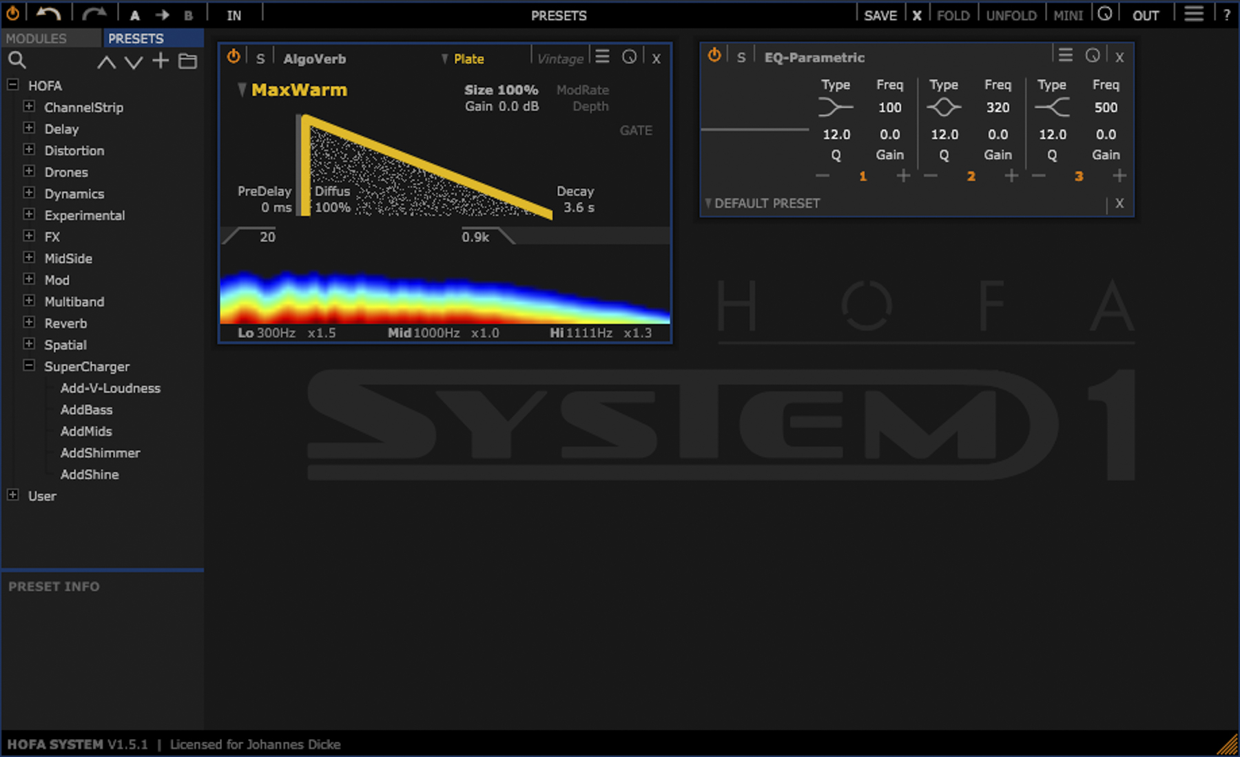 Test: Plug-in Bundle HOFA System 1.5