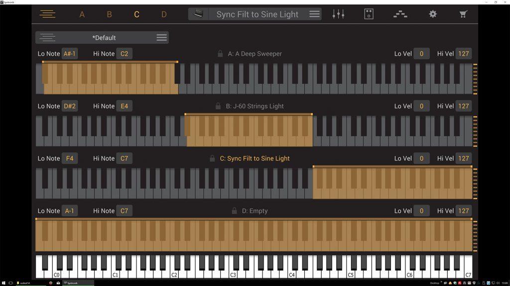 IK Multimedia Syntronik –Tastaturlayer