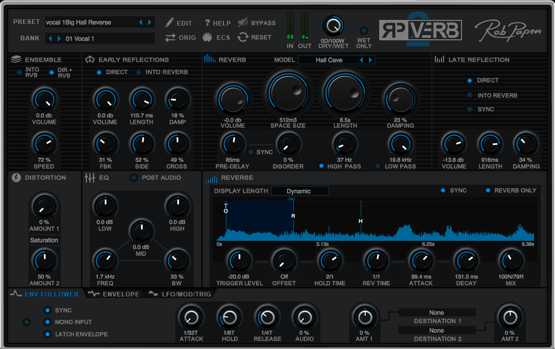 Test: Hall-Plug-in Rob Papen RP-Verb 2