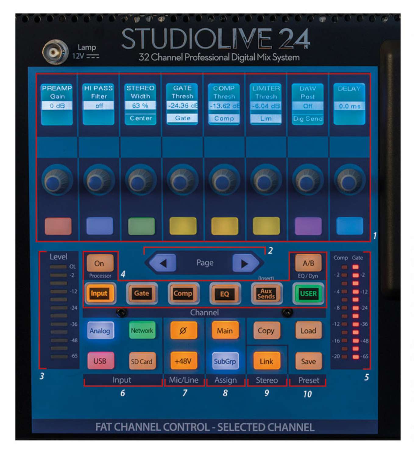 Presonus StudioLive 24 Series III – Fat Channel Control