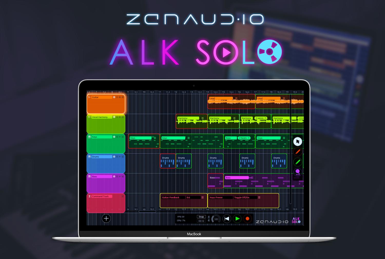 News: zenAud.io bringt Solo-Variante des Looping- und Sequenzing-Softwaretools ALK2 heraus