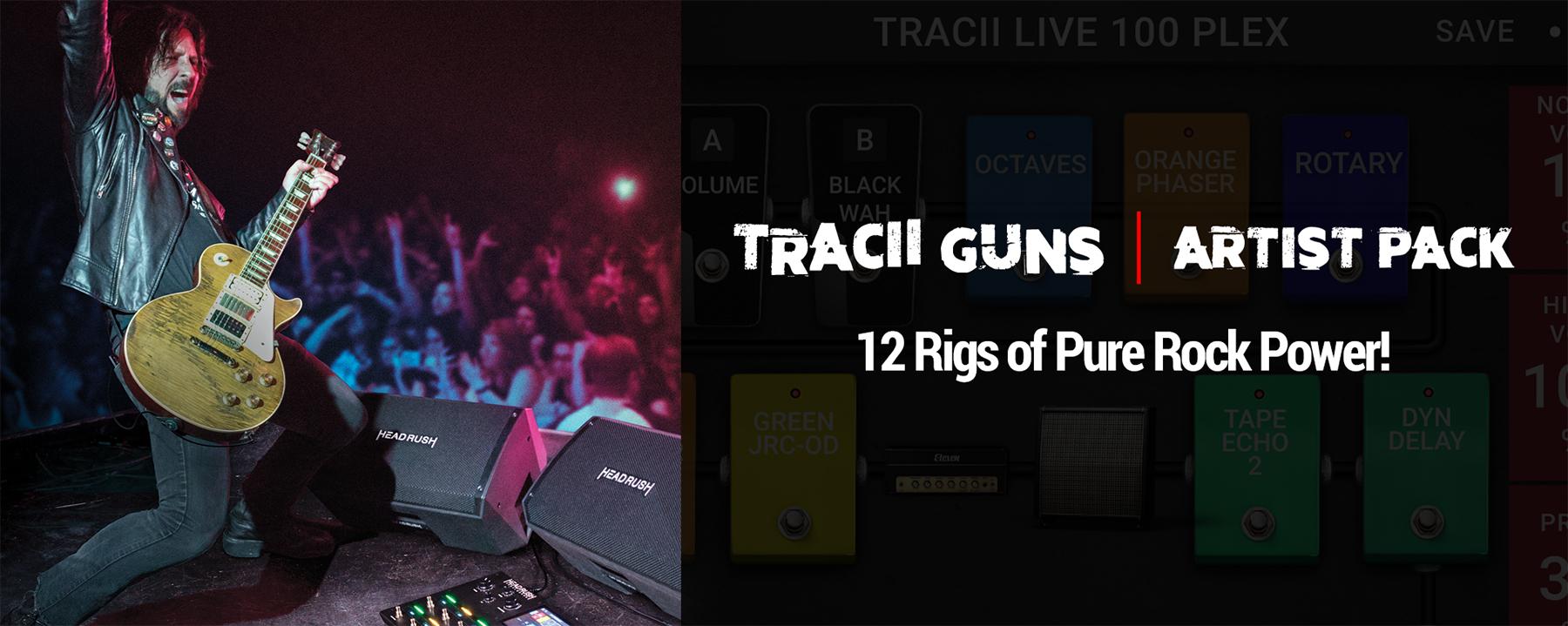 News: Tracii Guns Artist Pack für das HeadRush Pedalboard erhältlich