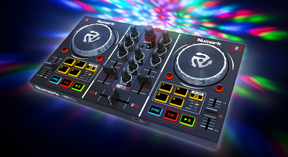 News: DJ Controller Party Mix von Numark nun mit Serato DJ Lite