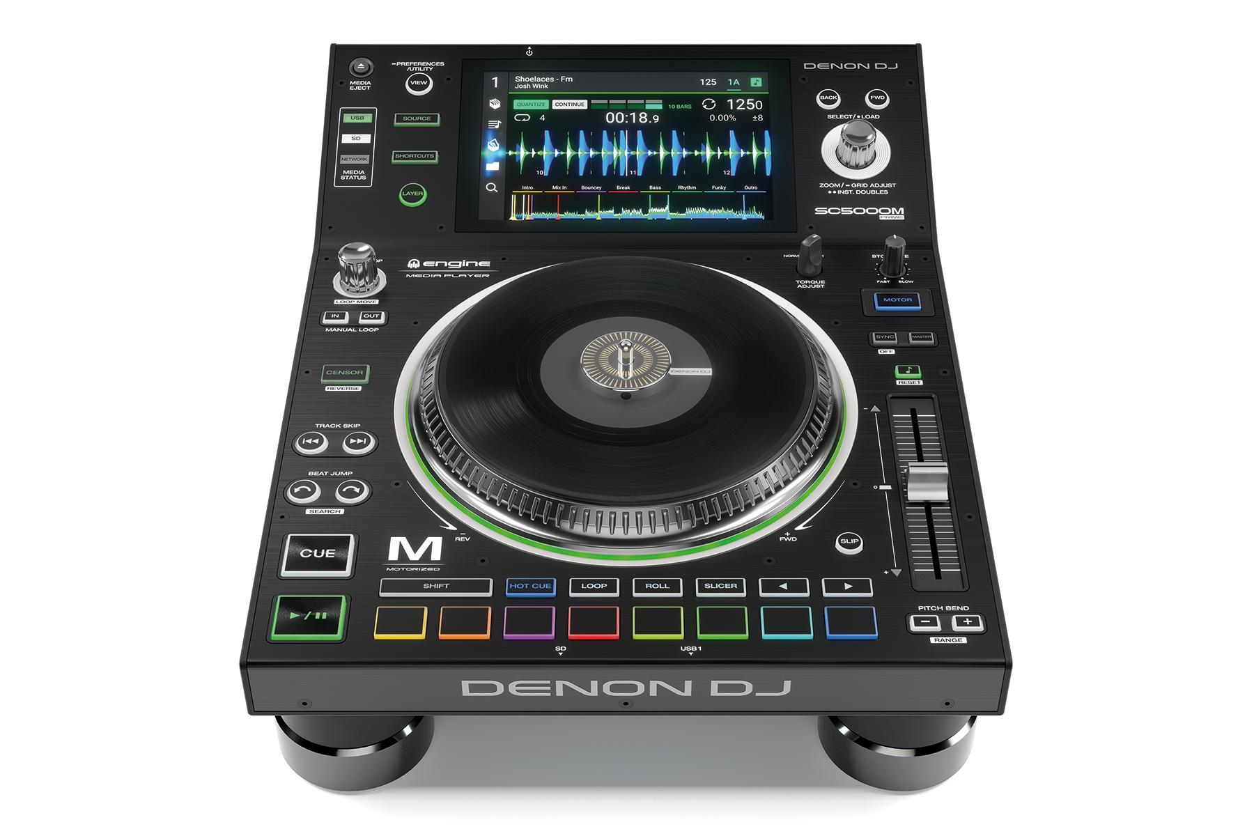 """News: Denon DJ enthüllt SC5000M Prime mit motorisiertem 7"""" Plattenteller"""